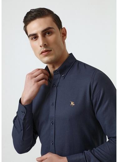 D'S Damat Slim Fit Oxford Gömlek Lacivert